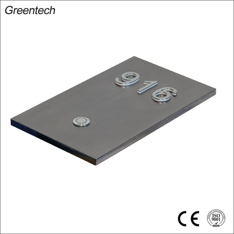 China 304 Stainless Steel House Number Panel Manufacturer