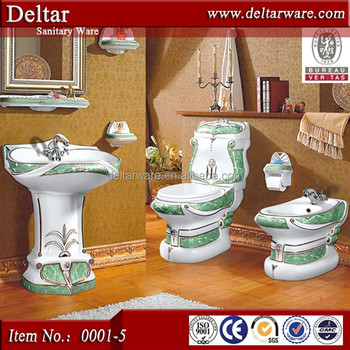 Noble Decoration Style Toilet BathroomItalian Classic Design Wc