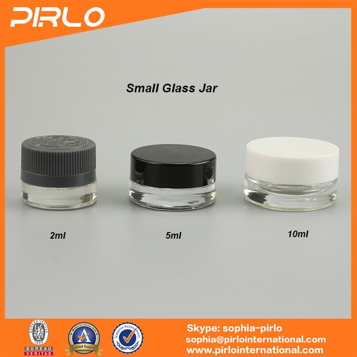 5g 5ml clear round mini glass jar for cosmetic cream sample