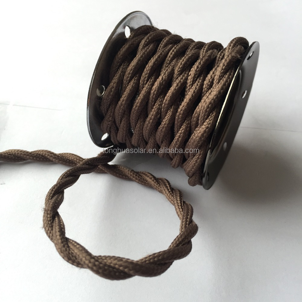 2*0.75/3*0.75 Kupfer Tuch Bedeckt Draht,Vintage-stil Lampe Kabel ...