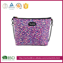 Wholesale Custom colorful Support ODM OEM PU purple satin bags cosmetic bag material
