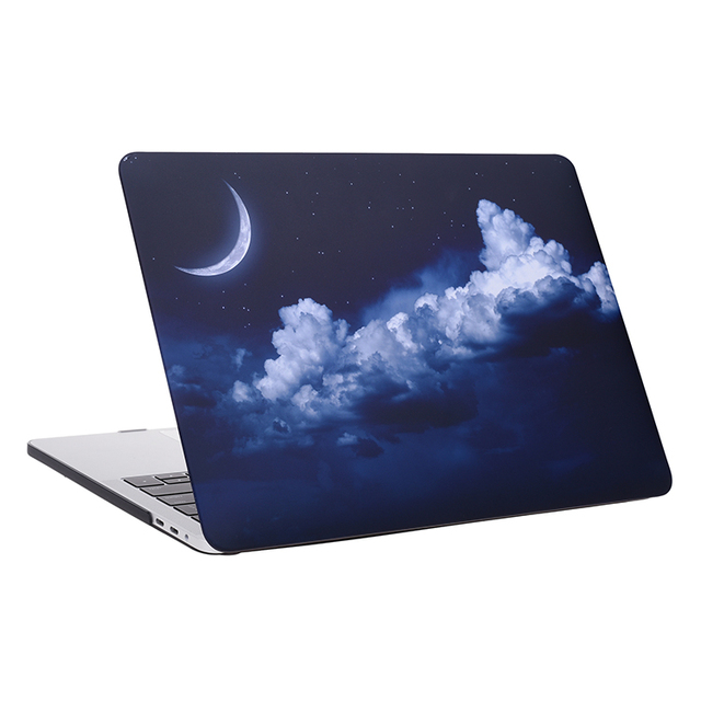 "Sky moon rubberized matte printed hard case for Macbook 13"" Pro with Retina"