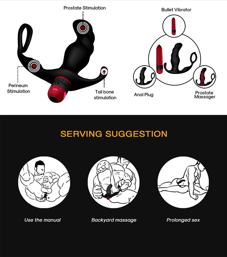 Amazon bestseller 9 speeds male anal prostate massager sex toys