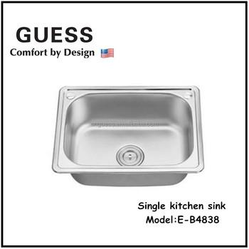 Deep kitchen single bowl sink/kitchen wash basin E-B4838, View deep ...