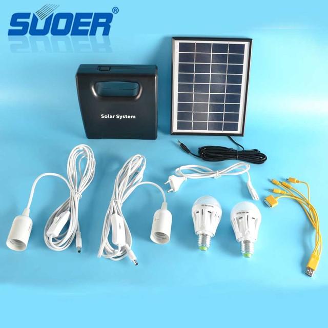 Suoer 6V 5W Pv System Solar Panels 1.5W 12 Volt Mini Solar Powered Led  Portable