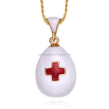 Red cross medical alert enamel faberge egg pendant charms necklace red cross medical alert enamel faberge egg pendant charms necklace aloadofball Images