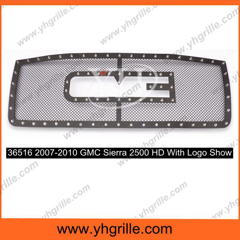 With Logo Show Sierra Auto Front Rivet Grille