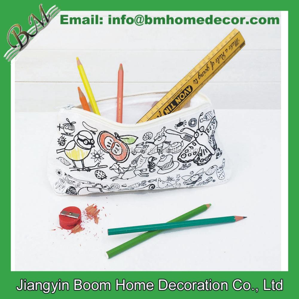 design your own pencil case for school diy design cotton pencil