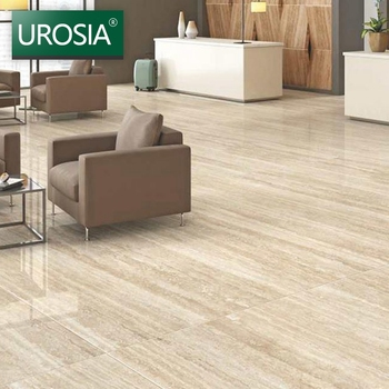 Supermarket Glossy Double Loading Polished Porcelain Floor Tiles 800x800 Gray Wood Grain Ceramic Tile