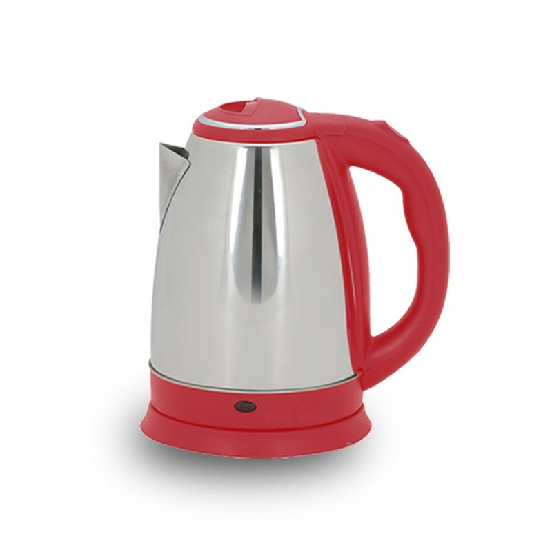 Red handle 1.5L 1500W Stainless Steel Electric Kettle