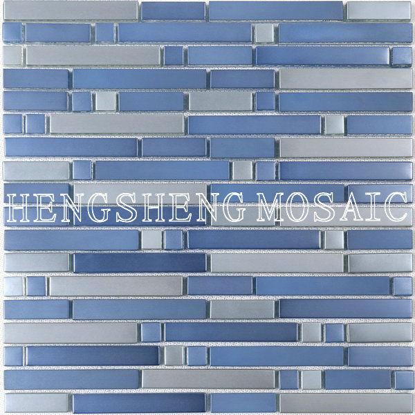 Mat Azul de lujo del vidrio cristalino del mosaico de azulejos de ...