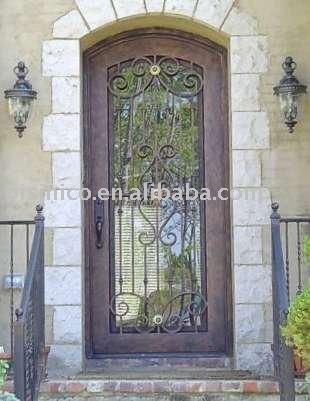 Antique style m tal porte porte de fer m tal artistique porte villa de porte int rieur et for Porte villa en fer