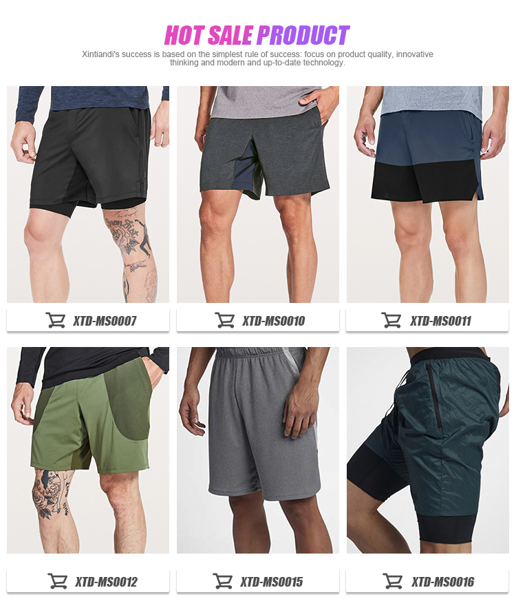 Professional supplier wholesale jogger shorts men cotton custom