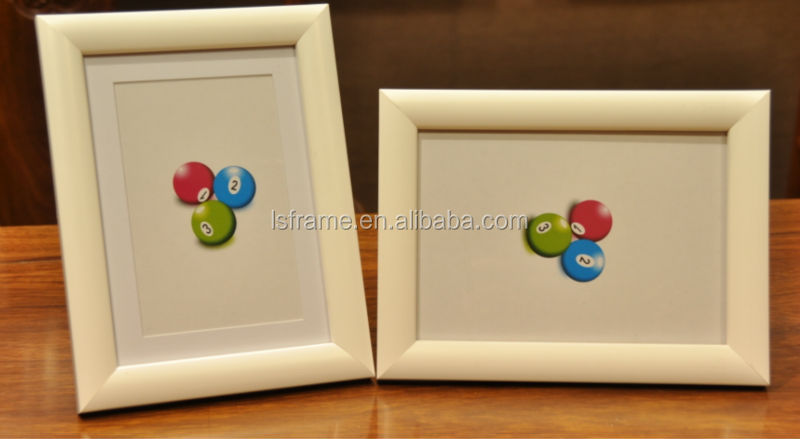 White photo frame with matboard wholesale photo piture frame
