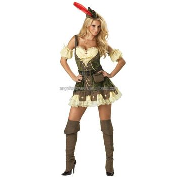 Fantasy party costume sexy robin hood fancy dress costume for woman AGC2348