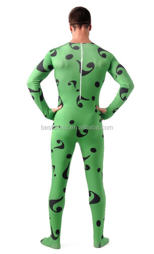 riddler kost m f r erwachsene halloween kost me f r m nner karneval cosplay voll body zentai. Black Bedroom Furniture Sets. Home Design Ideas