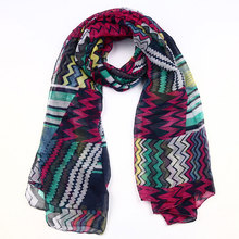 2014 new products wholesale fashion gauze kerchief printing flower voile palestine scarf
