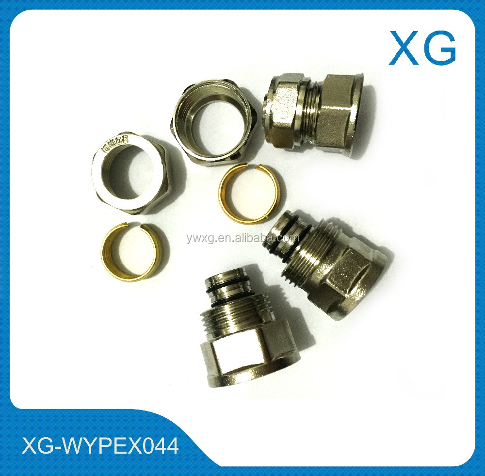 brass 16mm compression fittings male female socket/elbow/tee for gas pipe,pex-al-pex pipe