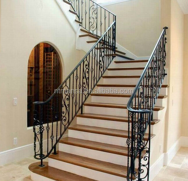 Curved Wrought Iron Stair Railings Outdoor Wrought Iron