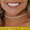Single layer crystal choker rhinestone choker necklace for wedding