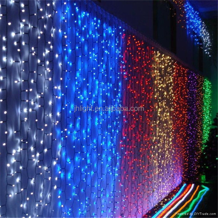 Led Twinkling Stars Led Christmas Star Curtain Lights