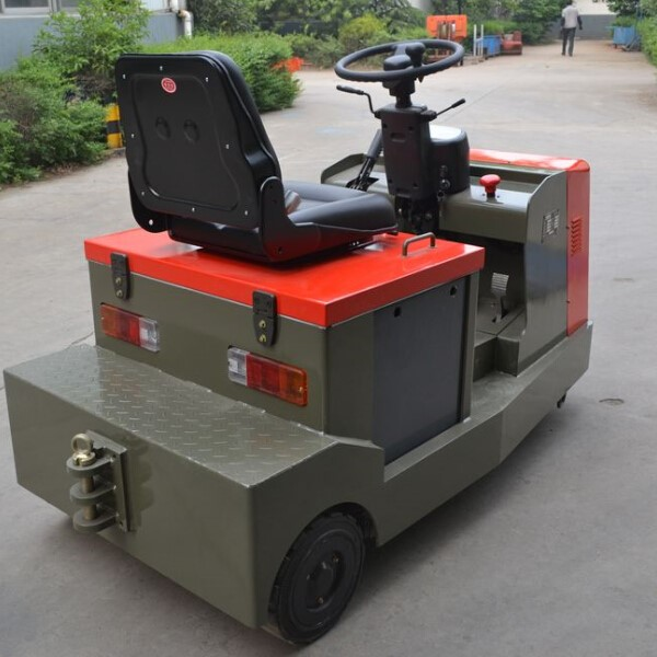 3ton Electric Tow Tractor With Power Steering(eps) Ac Motor For Airport Luggage Station Logistics