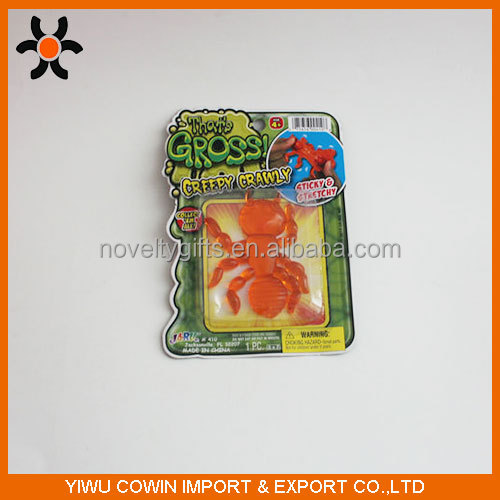 Hot Sales cheap TPR Sticky Animal Small Animal kids Toy Novelty Plastic Toy For Kids