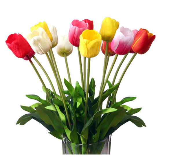 China alibaba good quality PU/plastic artificial flower tulip