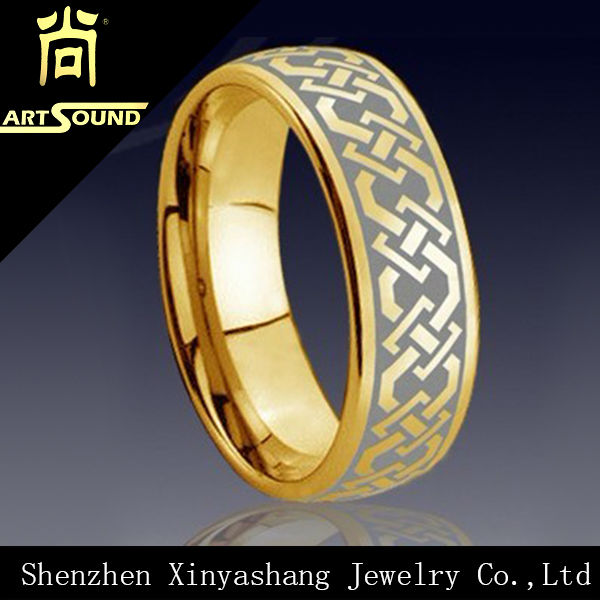 Shenzhen Factory Supplies Pure Gold Wedding Ring For Men