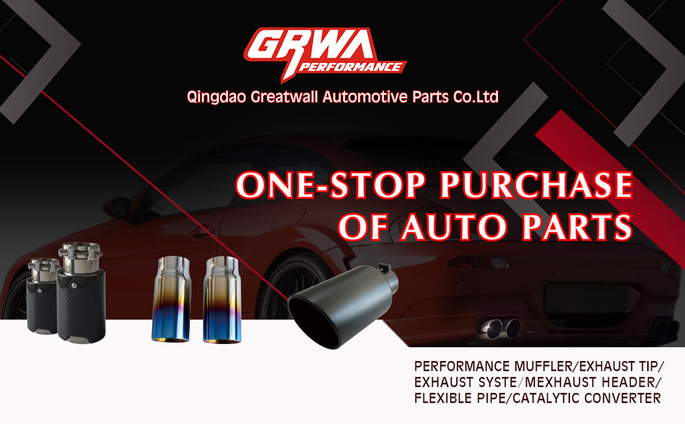 GRWA Modified Car Exhaust Stainless Steel Exhaust Muffler Tips For Amg