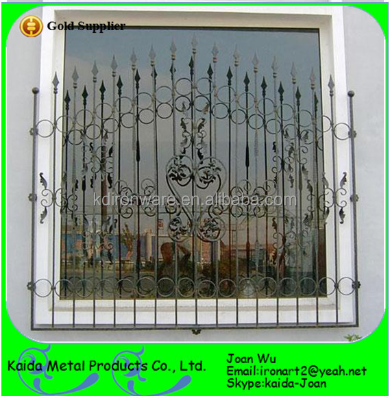 Beautiful Home Steel Wrought Iron Security Window Grills