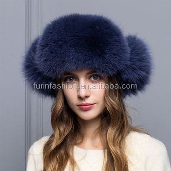 000a79f2b Wholesale Winter Real Fox Fur Trapper Hat For Fashion Girls - Buy Fox Fur  Trapper Hat Product on Alibaba.com