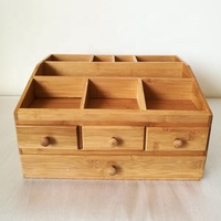 Wooden Tabletop Makeup Organizer Box , OEM Jewelry Beauty Storage Case with Drawers