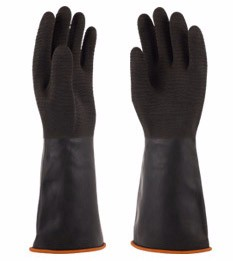 Double color cheap price heavy duty latex industrial work gloves