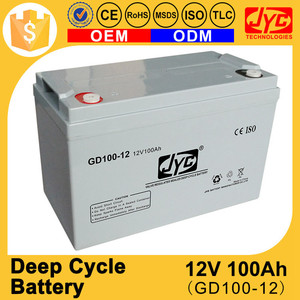 Guangdong top sealed deep cycle 12v 100ah light weight battery