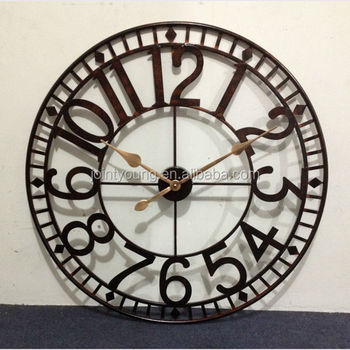 Large Outdoor Clock Metal Wall Clock Street Clock