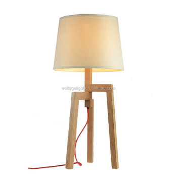 modern design furniture table lamp natural wooden rotatable tripod table lamp round fabric. Black Bedroom Furniture Sets. Home Design Ideas