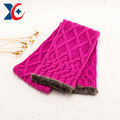 Factory price square hat scarf glove set wholesale