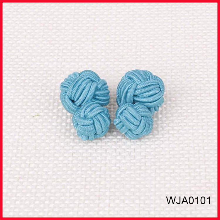 Mens Fashion Shirt Elastic Silk Knot Cufflinks