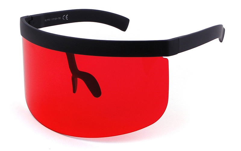 31432de2fd9 ZHAOMING New Fashion Big Frame Visor Sunglasses Women Flat Top Mask  Mirrored Shades Men Luxury Windproof