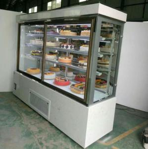 Natural Marble Base Cake Shop Display Showcase Refrigerator
