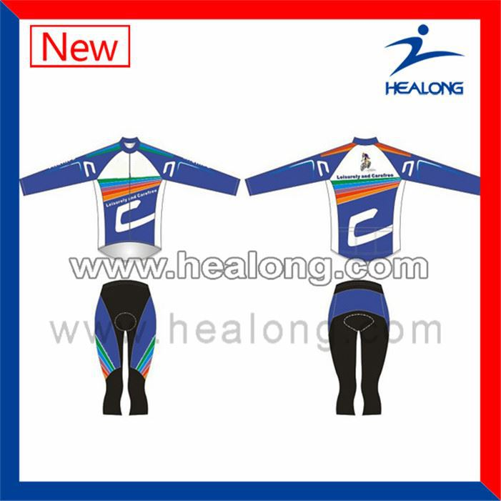 Healong Sublimation Children French Cycling Jerseys