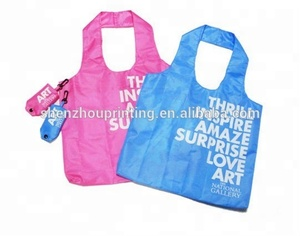 China supplier wholesale custom logo printing tote shopping nylon reusable foldable bag