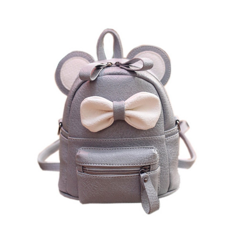 7a1f99582a61 Cute Toddler Backpack Kindergarten Bag Travel Kids Backpacks Purse Bowknot  Gray