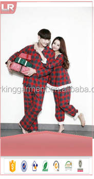 wholesale couple pjs nightwear underwear christmas sleepwear