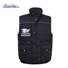 Goedkope Cargo Black Security Winter Warm <span class=keywords><strong>Puffer</strong></span> Outdoor Groothandel Winddicht <span class=keywords><strong>Vest</strong></span> mannen Body Warmer