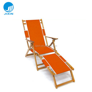 Outdoor leisure Wood folding beach sun lounger
