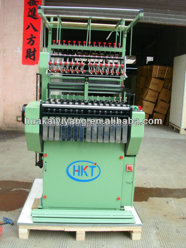 Elastic narrow tape making machine