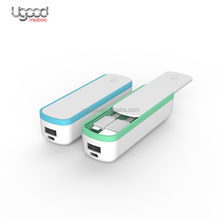 Keren Gadget Portable Power <span class=keywords><strong>Bank</strong></span> dengan Slide-Out Cover Power <span class=keywords><strong>Bank</strong></span> Charger <span class=keywords><strong>2200</strong></span> <span class=keywords><strong>MAh</strong></span> dengan Terintegrasi Kabel USB