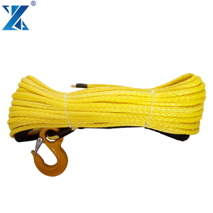 China soft shackle for 4x4 ATV UTV towing rope 100% uhmwpe synthetic rope